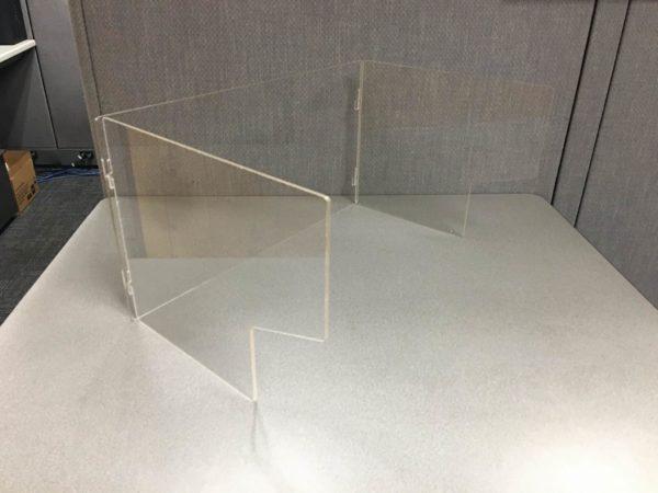 Desk Shield 2 way fold (single)