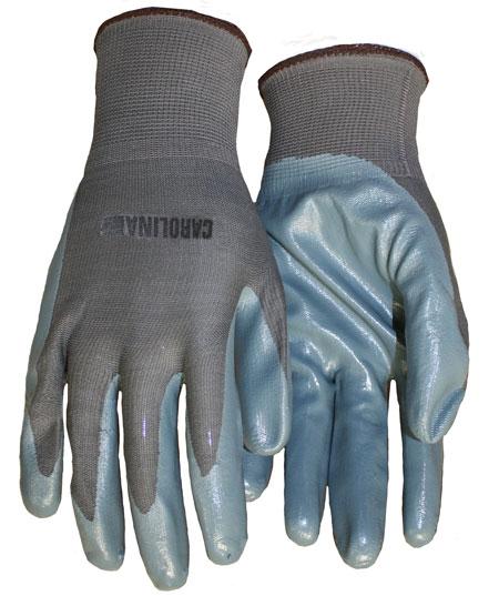 Ultra-Thin Light Gray Nitrile Palm Coated Nylon-Knit Glove - Large I13KNIGNPD