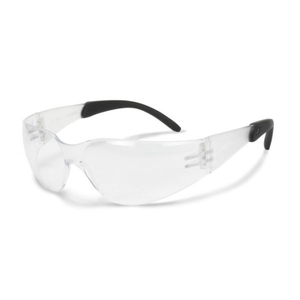 Radians Mirage RT Clear Safety Glasses with Rubber Tipped Temples MRR110ID