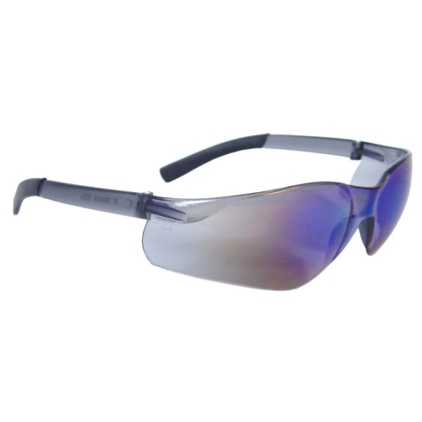 Radians Rad-ATAC Blue Mirror Safety Glasses with Rubber Tipped Temples AT1-70