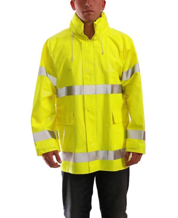 Tingley J53122 Comfort-Brite Hi-Viz Rain Jacket - Large