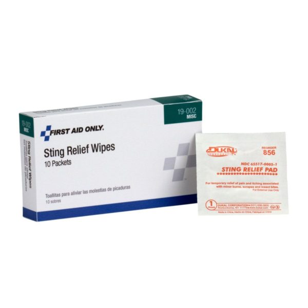 Sting Relief Wipes (10/Box) 19002AC