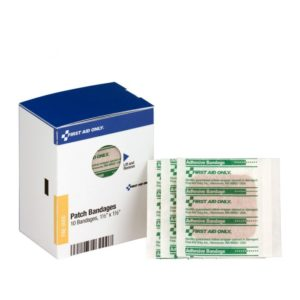 Patch Bandages 1 1/2in x 1 1/2in 10/Box FAE3000AC