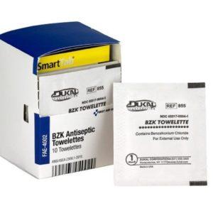 BZK Antiseptic Towelettes 10/Box FAE4002AC