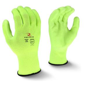 Radians 2XL Polyester Hi-Viz Work Glove with Polyurethane (PU) Palm Coating 13 Gauge RWG22XXL - Double Extra Large
